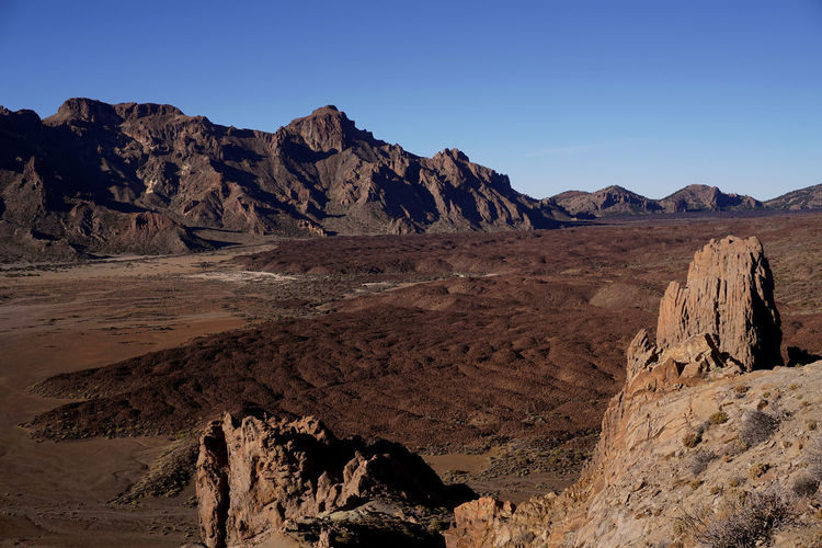 Betterlandscapes Teide Teide Volcano Teide National Park Tenerife Tenerife España Tranquility Tranquil Scene Sky Scenics Rock Formation Rock - Object Physical Geography Outdoors No People Nature Mountain Range Mountain Landscape Geology Desert Day Clear Sky Beauty In Nature Arid Climate