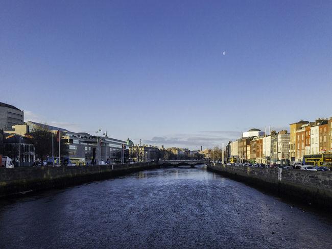 Dublin Blue Bridge - Man Made Structure Building Exterior City Clear Sky Liffey Water