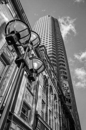 highrise building in Toronto Blackandwhite Monochrome Monoart Instatag Blackandwhitephotography Monochromatic Bwstyleoftheday Bnw_society Bnw_captures City Skyscraper Technology Modern Sky Architecture Building Exterior Built Structure Tall - High Urban Skyline Cityscape Tower Office Building