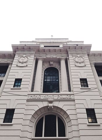 Building Exterior Architecture Built Structure Window Arch Façade Low Angle View Politics And Government HongKong Hongkongpolice Police Station City 1919