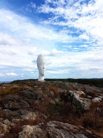 """ Anna "" A sculpture made by the artist Jaume Plensa . Spain ArtWork Sculpture Park Artworks Artist Sculpture Garden Sculptures In Nature Artistic Eye Sculpturepark Artists_united Art Installation"