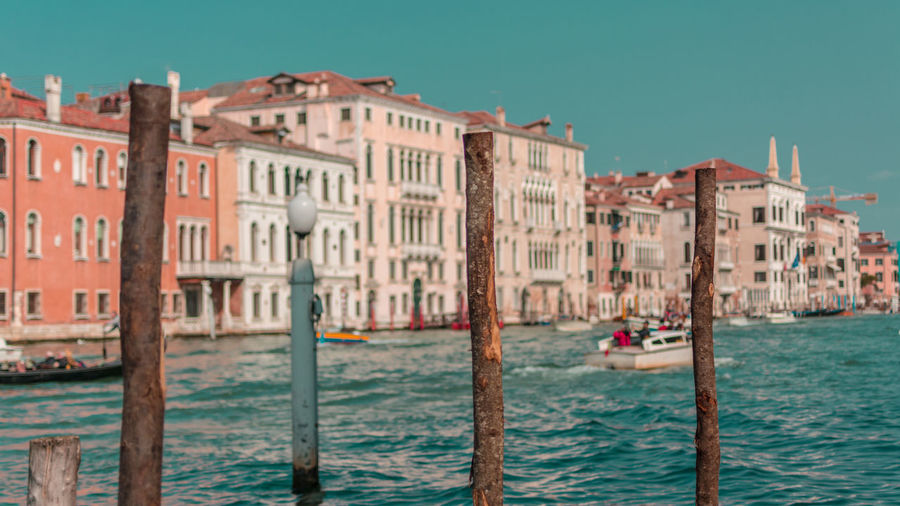 Architecture Building Building Exterior Built Structure Canal City Gondola - Traditional Boat Italy Mode Of Transportation Nature Nautical Vessel Outdoors Passenger Craft Post Residential District Sea Tourism Transportation Travel Travel Destinations Venice Water Waterfront Wooden Post Adventures In The City