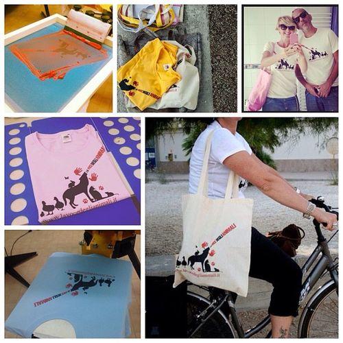 #lavocedeglianimali magliette e bordone stampate da #chiaralascura e design di Francesca Giari Chiaralascura Lavocedeglianimali