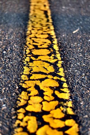 Surface level of yellow road