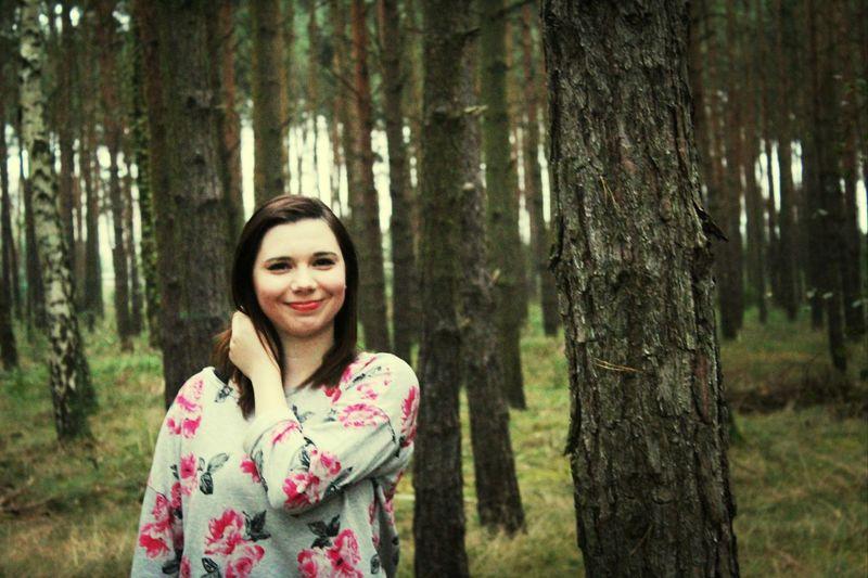 Protrait model Im Wald Freundin