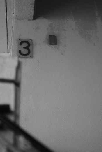 Black And White 3 Communication Metal Number Door Close-up Architecture Built Structure