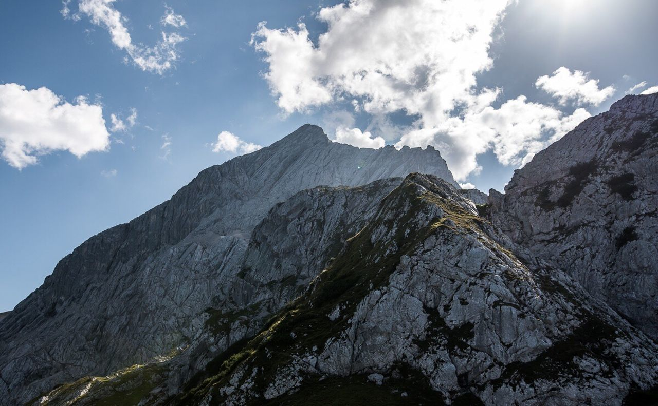 mountain, sky, nature, landscape, peak, beauty in nature, outdoors, no people, snow, range, high, day