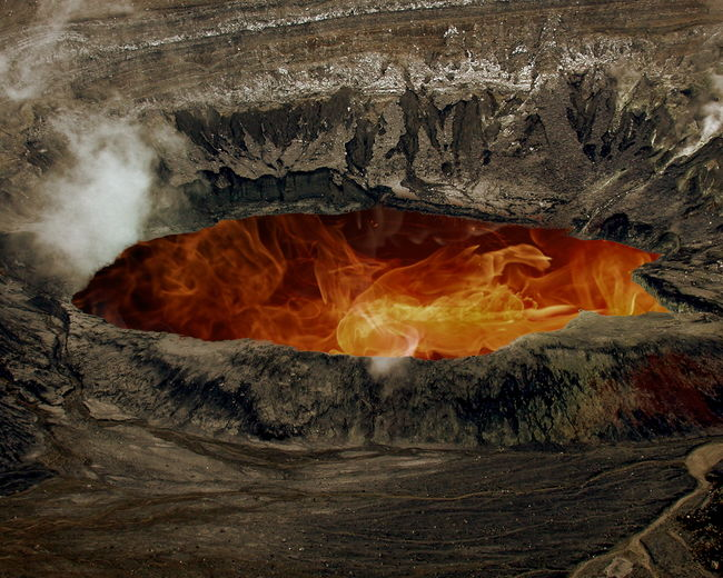 High Angle View Of Active Poas Volcano