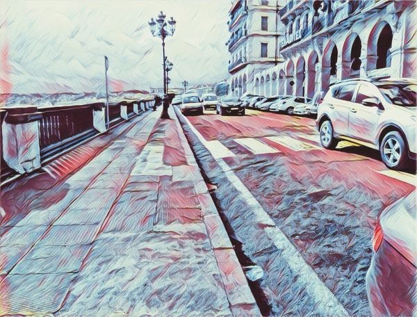 Drawing - Art Product Mode Of Transport Street City Cars No People Land Vehicle Perfection Drawing, Painting, Artwork