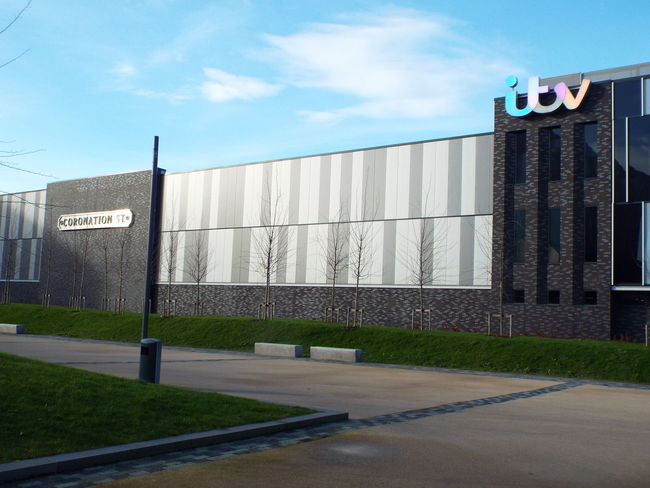 ITV Television Studios Coronation Street studio building Media City Salford Salford Quays Salford United Kingdom