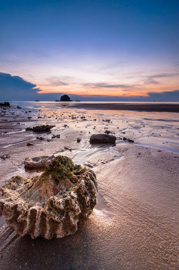 Sunset at tioman island Beauty In Nature Cloud - Sky Distant Geology Johor Majestic Malaysia Nature Non-urban Scene Outdoors Rock - Object Rock Formation Scenics Sea Seascape Shore Sky Sunset Tioman Tourism Tranquil Scene Tranquility Travel Destinations Vacations Water