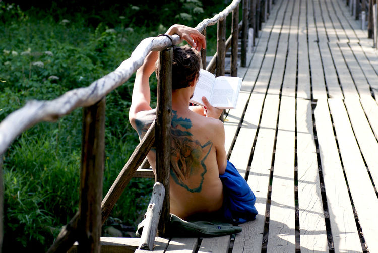 man reading a