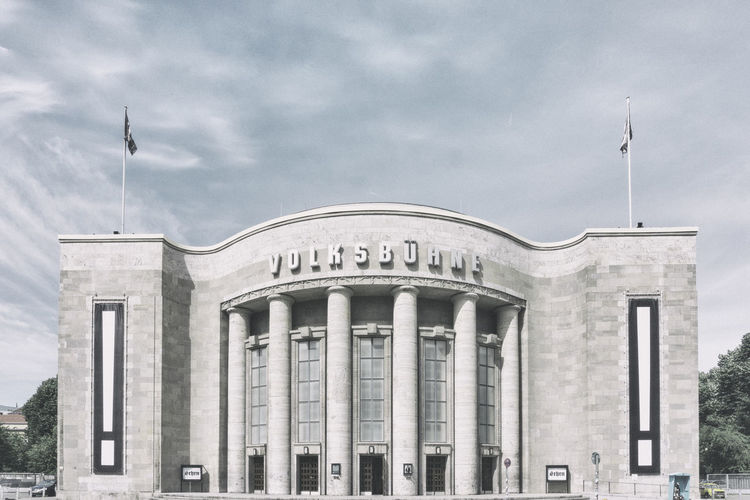 Volksbühne theater building Architectural Column Architecture Berlin Building Exterior Built Structure Cloud - Sky Color Image Columns Day Germany 🇩🇪 Deutschland History Horizontal No People Outdoors Sky Theater Travel Destinations Volksbühne