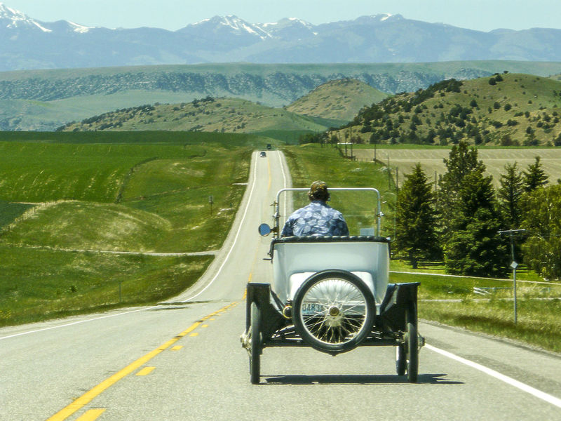 Antique Car Beauty In Nature Country Road Highway Land Vehicle Landscape Mountain Mountain Range Road