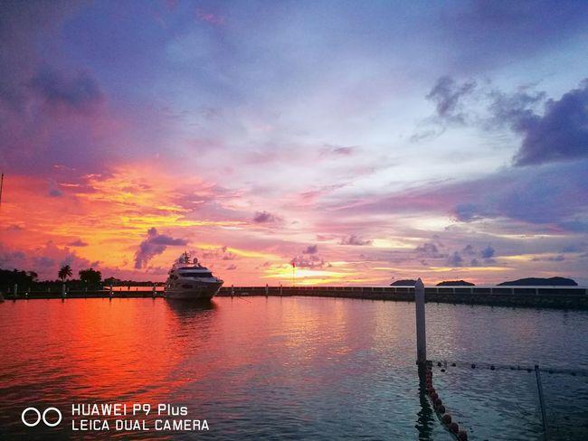 Sunset Travel Huaweiphotography HuaweiP9 Huaweip9my Huaweimobileapac Magellansuteraharbour Sutera Harbour Resort Huawei P9. Boats Kota Kinabalu Kota Kinabalu Town
