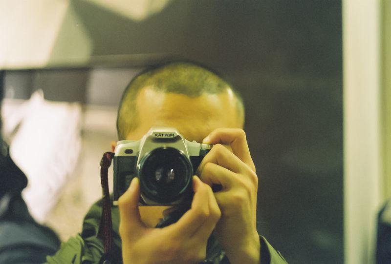Me, My Camera And I That's Me Selfie 135film Pentax MZ-7 Pentax Color Portrait Self Portrait