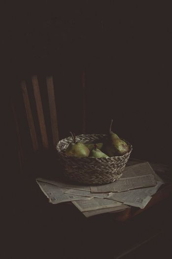 EyeEmNewHere Basket Food And Drink Healthy Eating Fruit No People Food Freshness Day Close-up Black Background Studio Shot Indoors
