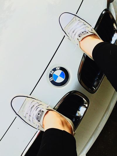 Gotta love BMW Low Section Human Leg One Person Human Body Part Real People Shoe Human Foot Indoors  High Angle View Directly Above Standing Men Leisure Activity Lifestyles Close-up Day Wristwatch Human Hand People