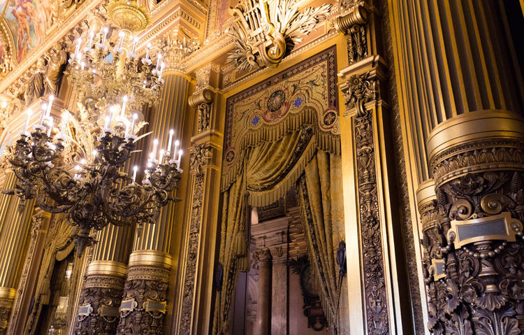 Architecture Arts Culture And Entertainment Baroque Style Built Structure Gold Colored History Indoors  Low Angle View Music Musical Instrument Musical Theater  No People Operahouse