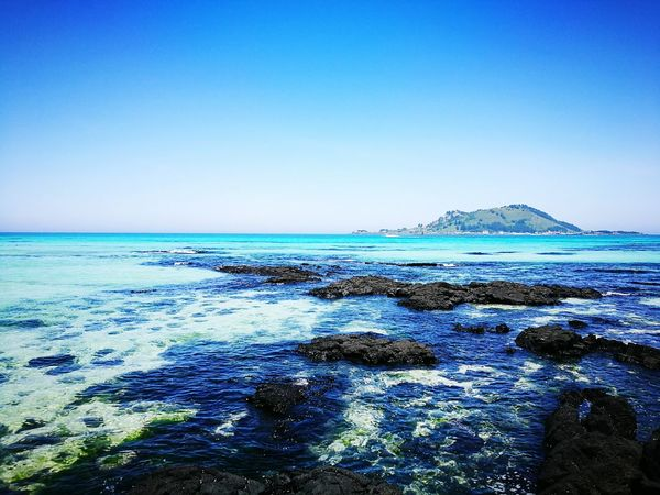 Jejudo in Korea Sea Beach Blue Nature Beauty In Nature