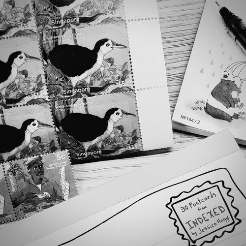 Postcards Stamps Snail Mail Blackandwhite Blackandwhite Photography Black And White Collection  EyeEm BlackandWhite
