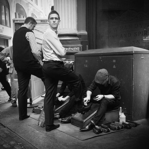 Shoeshiners The Street Photographer - 2014 EyeEm Awards The Moment - 2014 EyeEm Awards