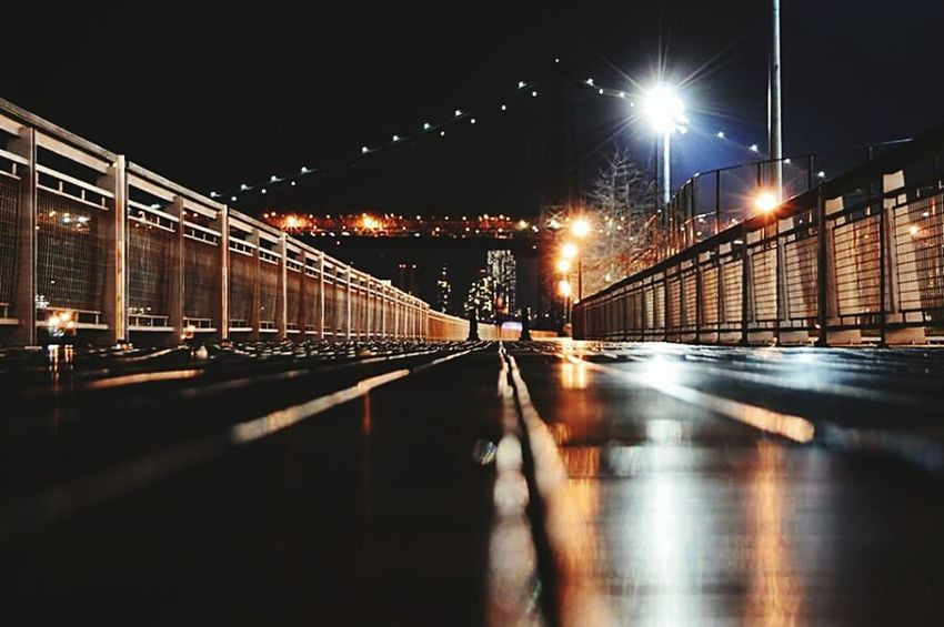 New York CityWilliamsburg Bridge Beautiful Night ... Fulllight Nikon D7000 One More Green Photography