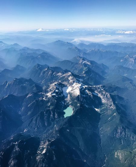 Aerial View Of Mountains And Sea