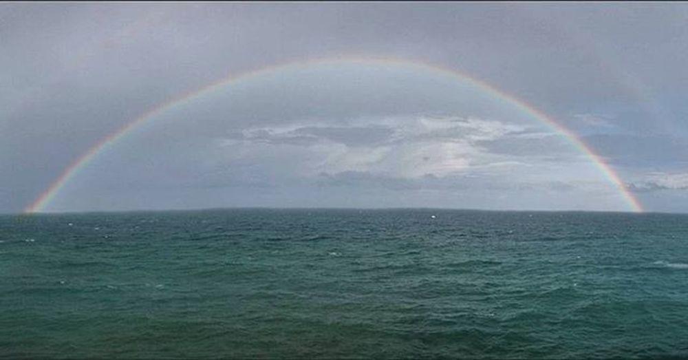 Morning! At Stanley Bridge While Cycling... AlexBikes Friday_Cycle 12 Sea Raining Rainbow Alexandria Thegreatoutdoors-2016eyeemawards Thegreatoutdoorswithadobe