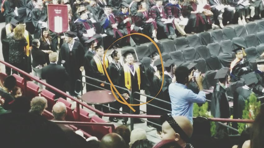 Yesterday my cousin graduated with a bachelors in mathematics and a bachelors in electrical engineering. I couldn't be more proud. Graduation 2015 Nmsu Aggies Family