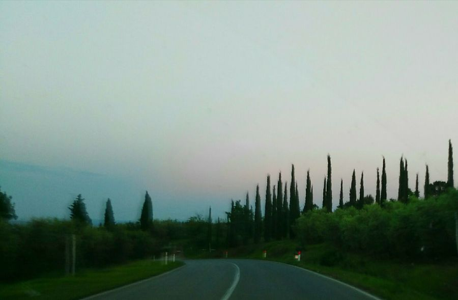Tuscany Toscana Street Driving Car Italy Nature Field And Trees Nature Lover Streets Collection Tuscany Countryside The Journey Is The Destination