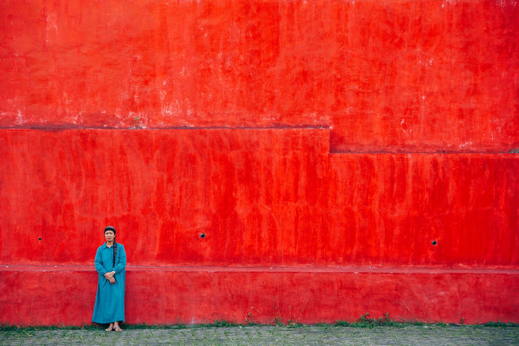 Architecture Building Exterior Colors Day One Person One Woman Only Only Women Outdoors People Red Statement Strong Women Around The World The Portraitist - 2018 EyeEm Awards