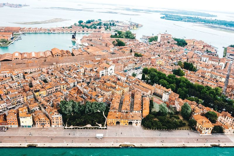 Water Sea Architecture Building Exterior Waterfront Beach Day City Cityscape Outdoors No People Built Structure Nautical Vessel Nature Tree Horizon Over Water Sky Venezia Droneshot Venice, Italy Lost In The Landscape EyeEm Gallery Travel Destinations Architecture City The Traveler - 2018 EyeEm Awards