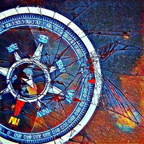 Compass Split Directions Broken Glass Compass Vortex Pole Shifting Indefinite Direction First Eyeem Photo