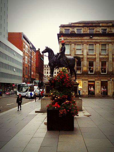 Glasgow City Famous Icon, The Traffic Cone Architecture New And Old 🌷 Flowers 🌹 Stretphotography Smartphone Clouds Art And Peole