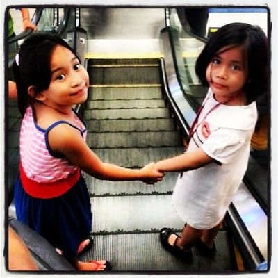 Look who went to the mall today? Ate love, cousin love. <3 <3 <3 Cousins  Titaduties Love Home mama wishyouwerehere holdhands happy family