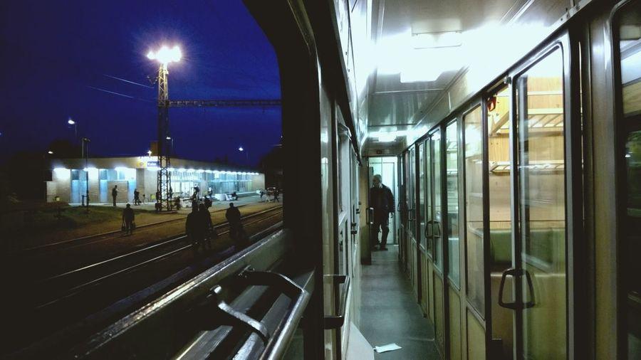 Traveling Nokia Lumia 735 Railway Hungary Landscape Night Public Transportation