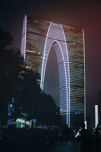 Gate of the Orient, one of the landmarks in Suzhou, China. We call it a pair of long johns.😂 Night Photography Long John Architecture Building Building Exterior