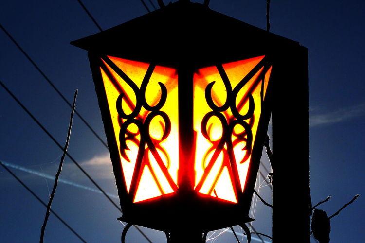 Blue Sky December 2015 Illuminated Lamp Light Metal Rabland,sudtirol Structure Sunshine Trasparency Winter