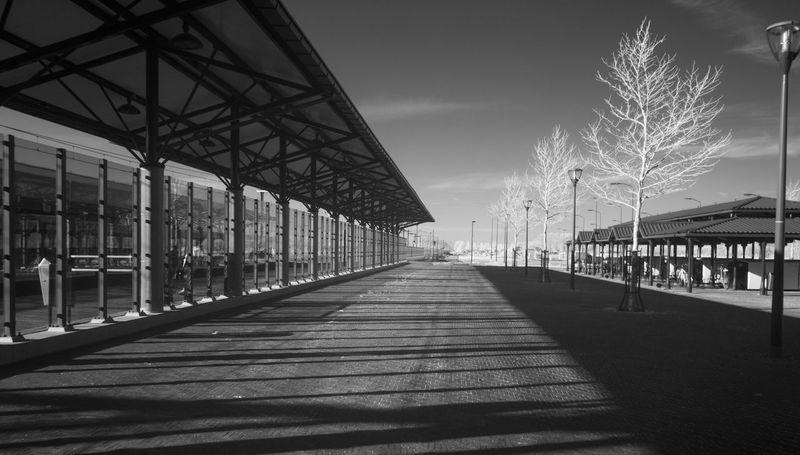 The trainstation in Brandenvoort Helmond. Trainstation Helmond Irphotography Black And White