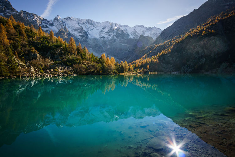 Adventure Beauty In Nature Discovering Hiking Hikingadventures Idyllic Italy Lake Landscape Landscapes Mountain Mountain Range Mountains Nature Outdoors Reflection Refraction Scenics Snow Water