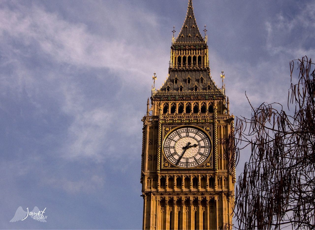 tower, clock tower, architecture, built structure, building exterior, time, sky, building, cloud - sky, clock, low angle view, travel destinations, city, nature, tourism, tall - high, travel, no people, day, outdoors, clock face, government, gothic style, spire