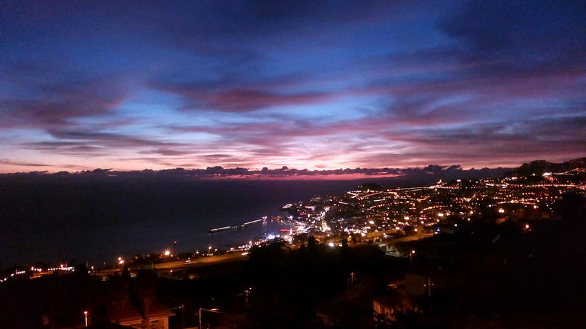 Night Illuminated Sunset Mountain Outdoors City No People Cloud - Sky Scenics Sky Cityscape No Filter, No Edit, Just Photography Funchal Madeira Island Boa Noite :) Dramatic Sky