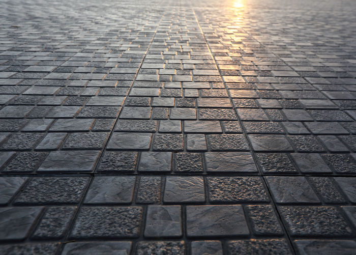 Pattern Backgrounds Full Frame No People Footpath Textured  Street High Angle View Outdoors Paving Stone City Day Stone Cobblestone Sunlight Transportation Nature The Way Forward Architecture Direction Surface Level Tiled Floor