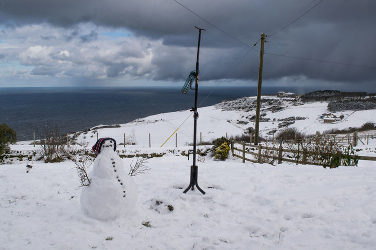 Beast from the East, Ravenscar, North Yorkshire North Yorkshire Scarborough Whiteout Winter Beast From The East Beauty In Nature Beauty In Nature Blizzard Cloud - Sky Cold Temperature England Nature Outdoors Ravenscar Scenics Seaside Seaview Sky Snow Snowman Tranquility Weather White Color