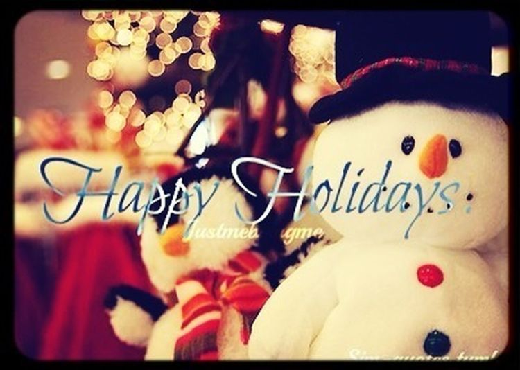 Happy Holidays✌❤☺