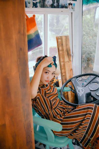 Retro look Retro Vintage Dress Corlorful Bus