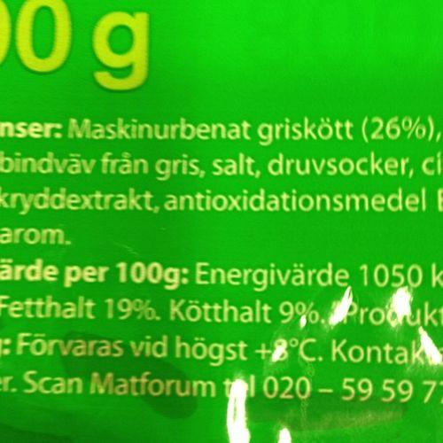 »Kötthalt: 9%»! 😵 Att Scan 's Lantkorv ens får kallas Korv är skamligt!