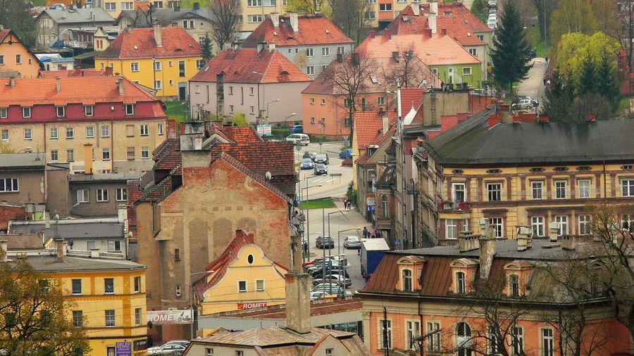 Full Frame Shot Of Houses In Town