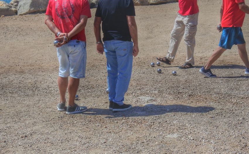 Casual Clothing Day Group Of People Leisure Activity Lifestyles Medium Group Of People Outdoors Pétanque Balls Pétanque Players Unrecognizable Person Vacations